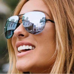 Used Quay AU Blue Mirror Lense Aviator Sunglasses